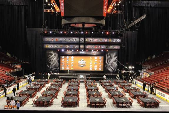 2014 NHL Entry Draft Floor [photo: Amy Irvin]