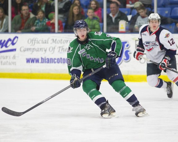 Josh Wesley just completed his first season with the Plymouth Whalers (Photo via Josh Wesley)