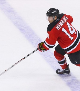 Adam Henrique: future captain of the NJ Devils? (Ed Mulholland-USA TODAY Sports)