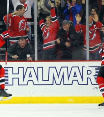 Travis Zajac & Michael Ryder in happier times for the Devils. (Ed Mulholland-USA TODAY Sports)