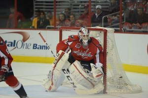 Braden Holtby has stolen games when the Caps have not been at their best. (Tom Turk/THW)