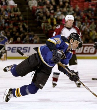Michal Handzus played parts of three seasons for the Blues