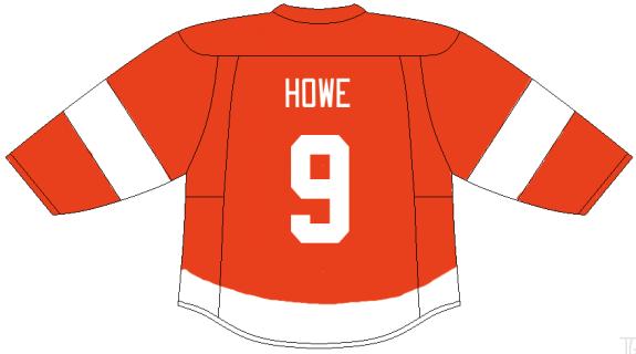 Detroit Red Wings jersey - Gordie Howe (created by Prashanth Iyer)