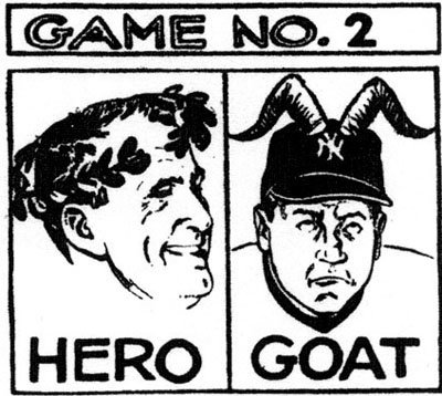 These Hero/Goat cartoons left an impact on NYers, just as all of Mr. Gallo's cartoons did. (Bill Gallo/New York Daily News)