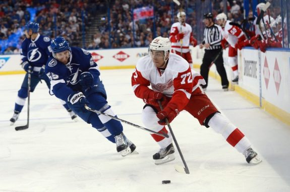 Andreas Athanasiou of the Detroit Red Wings.