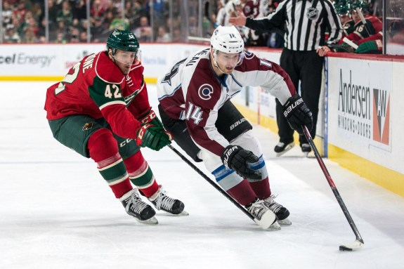Colorado Avalanche forward Blake Comeau