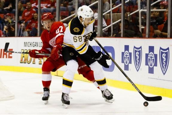 Detroit Red Wings defenseman Filip Hronek.