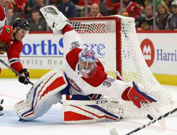 Charlie Lindgren goaltender Montreal Canadiens