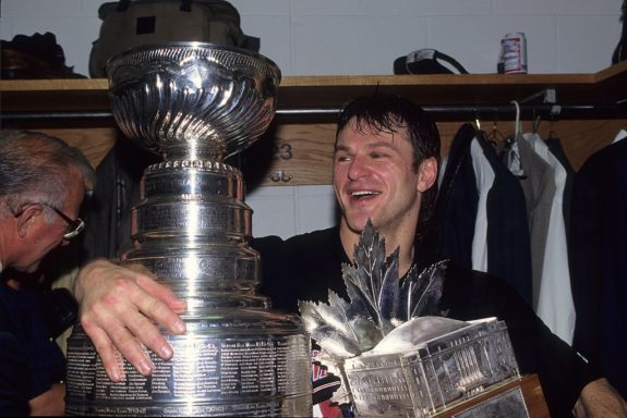 Claude Lemieux #22 of the New Jersey Devils