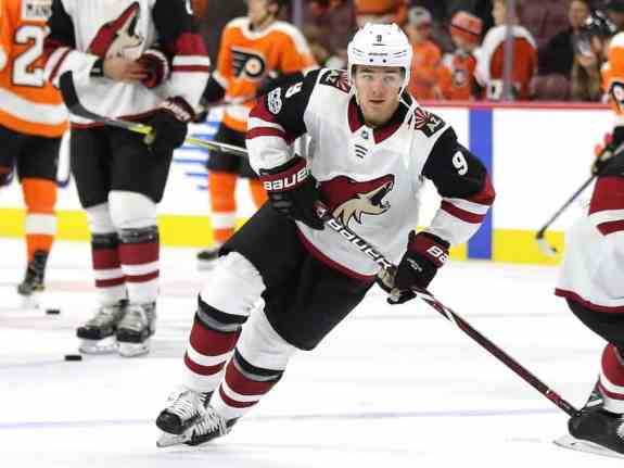 Clayton Keller of the Arizona Coyotes