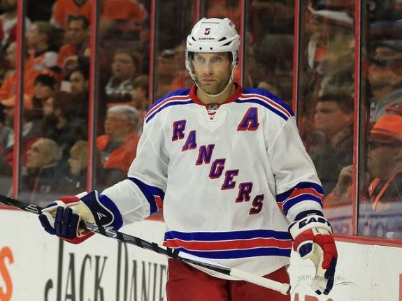 Dan Girardi was brought in by the Lightning to fill in for the traded Jason Garrison.