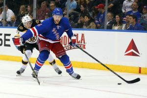 Defenseman Dylan McIlrath on the Ice (Anthony Gruppuso-USA TODAY Sports)