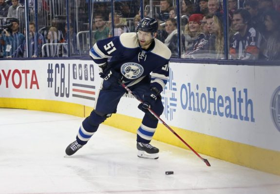 Fedor Tyutin was bought out by the Blue Jackets with two years left on his contract. (Aaron Doster-USA TODAY Sports)