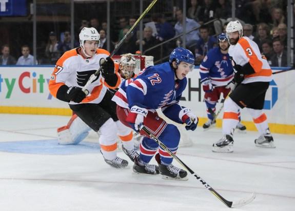 Chytil against the Philadelphia Flyers