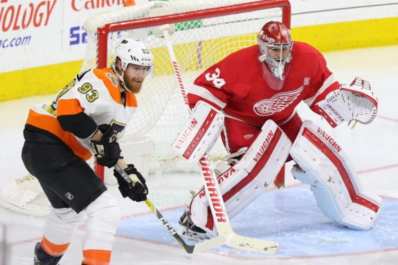 Petr Mrazek of the Philadelphia Flyers.