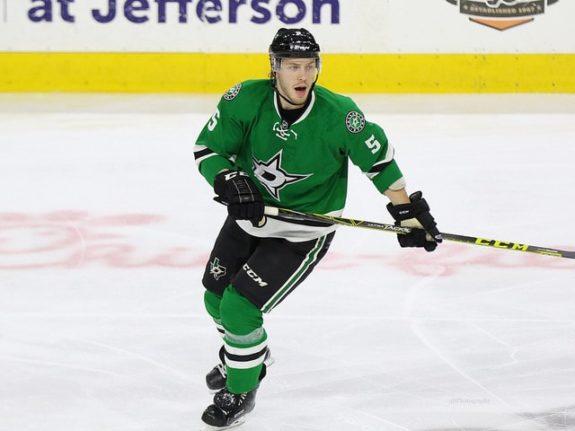 Jamie Oleksiak of the Dallas Stars.