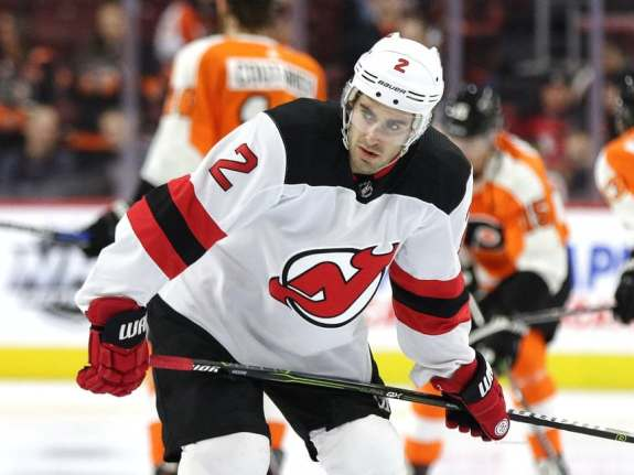John Moore #2, New Jersey Devils (Amy Irvin / The Hockey Writers)