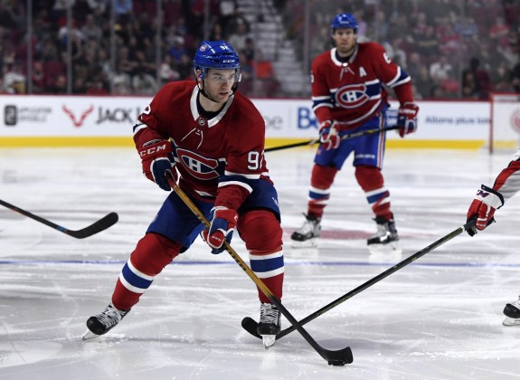Montreal Canadiens forward Jonathan Drouin