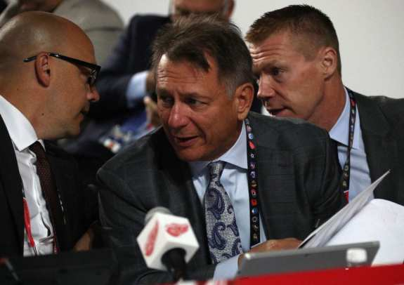 General manager Ken Holland of the Detroit Red Wings.