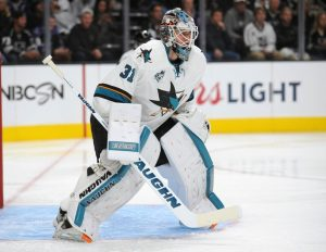 Martin Jones had a monstrous start to the seson. (Gary A. Vasquez-USA TODAY Sports)