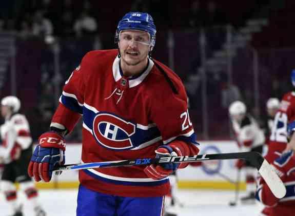 Montreal Canadiens forward Nicolas Deslauriers