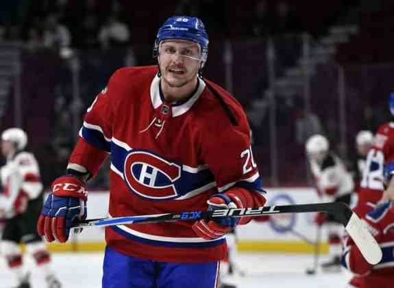 Montreal Canadiens forward Nicolas Deslauriers