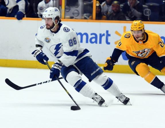 Lightning right wing Nikita Kucherov