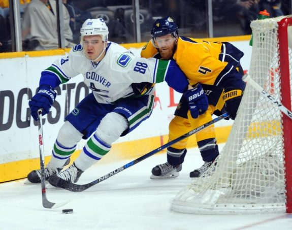 Nikita Tryamkin of the Vancouver Canucks.