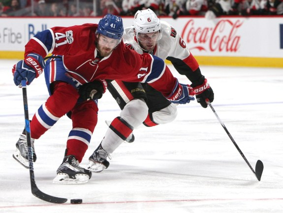 Montreal Canadiens left wing Paul Byron