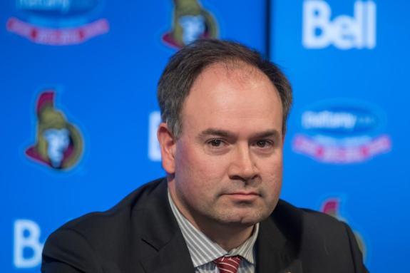 Pierre Dorion Ottawa Senators 2015