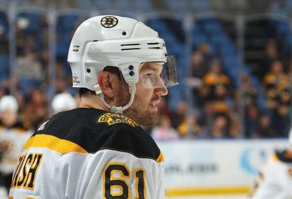 Rick Nash #61 of the Boston Bruins