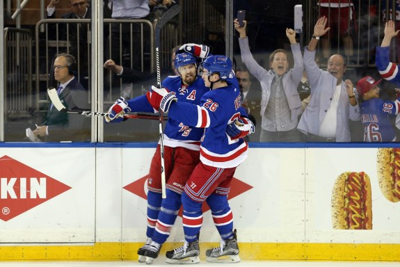 Rick Nash and Jimmy Vesey