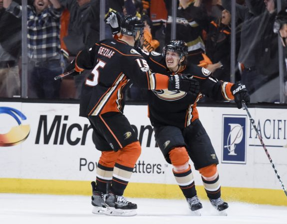 Rickard Rakell and Ryan Getzlaf
