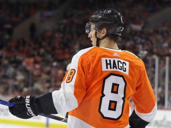 Robert Hagg #8, Philadelphia Flyers