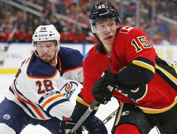 Calgary Flames forward Spencer Foo