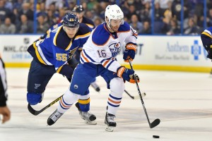 Teddy Purcell is one of the Oilers most recent success' via trade. (Jasen Vinlove-USA TODAY Sports)