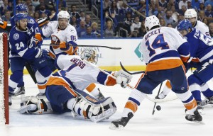 Greiss has been nice for the Isles in 2016-17.(Kim Klement-USA TODAY Sports)