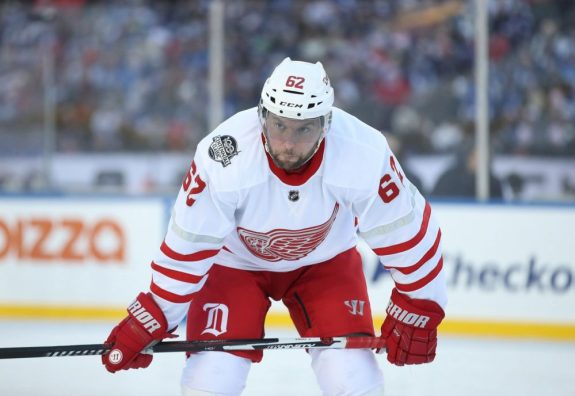Thomas Vanek was dealt by the Detroit Red Wings to the Florida Panthers.