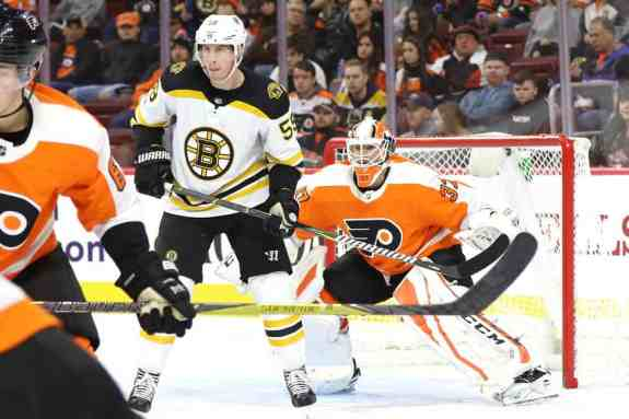 Tim Schaller Bruins Brian Elliott Flyers