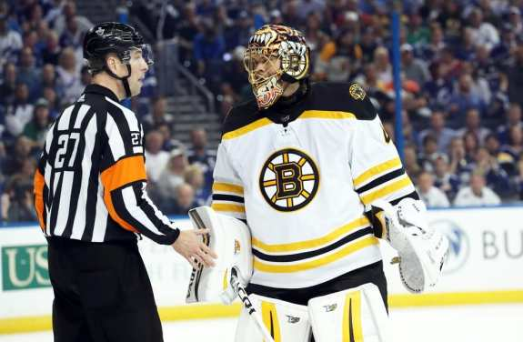Tuukka Rask Bruins Referee