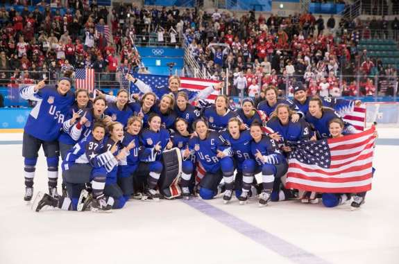 2018 USA Olympic Women's Hockey Team