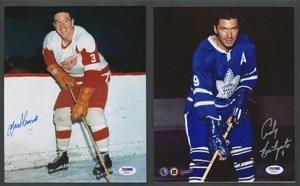 Detroit traded Marcel Pronovost (left) for Toronto's Andy Bathgate.