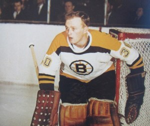 Bruins rookie goalie Gerry Cheevers.