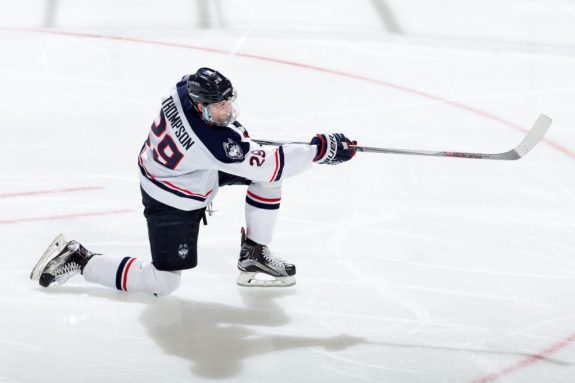 Tage Thompson of the University of Connecticut