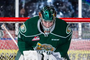 Carter Hart of the Everett Silvertips