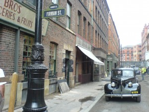 Photo taken in Manchester on the set of Captain America: The First Avenger.