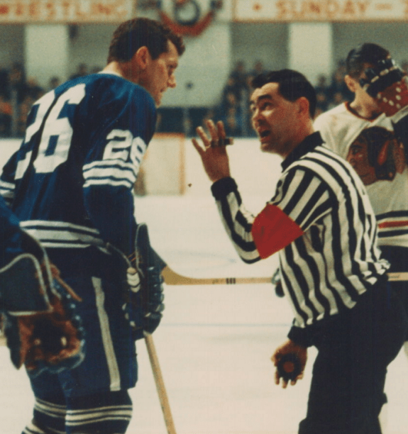 Calling a hockey penalty