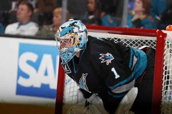 San Jose Barracuda goalie Troy Grosenick