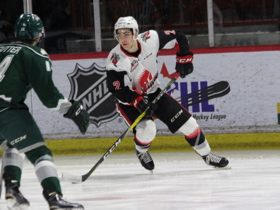 Josh Brook of the Moose Jaw Warriors