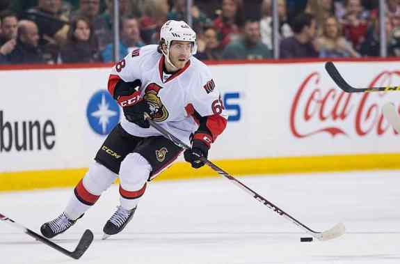 Senators forward Mike Hoffman